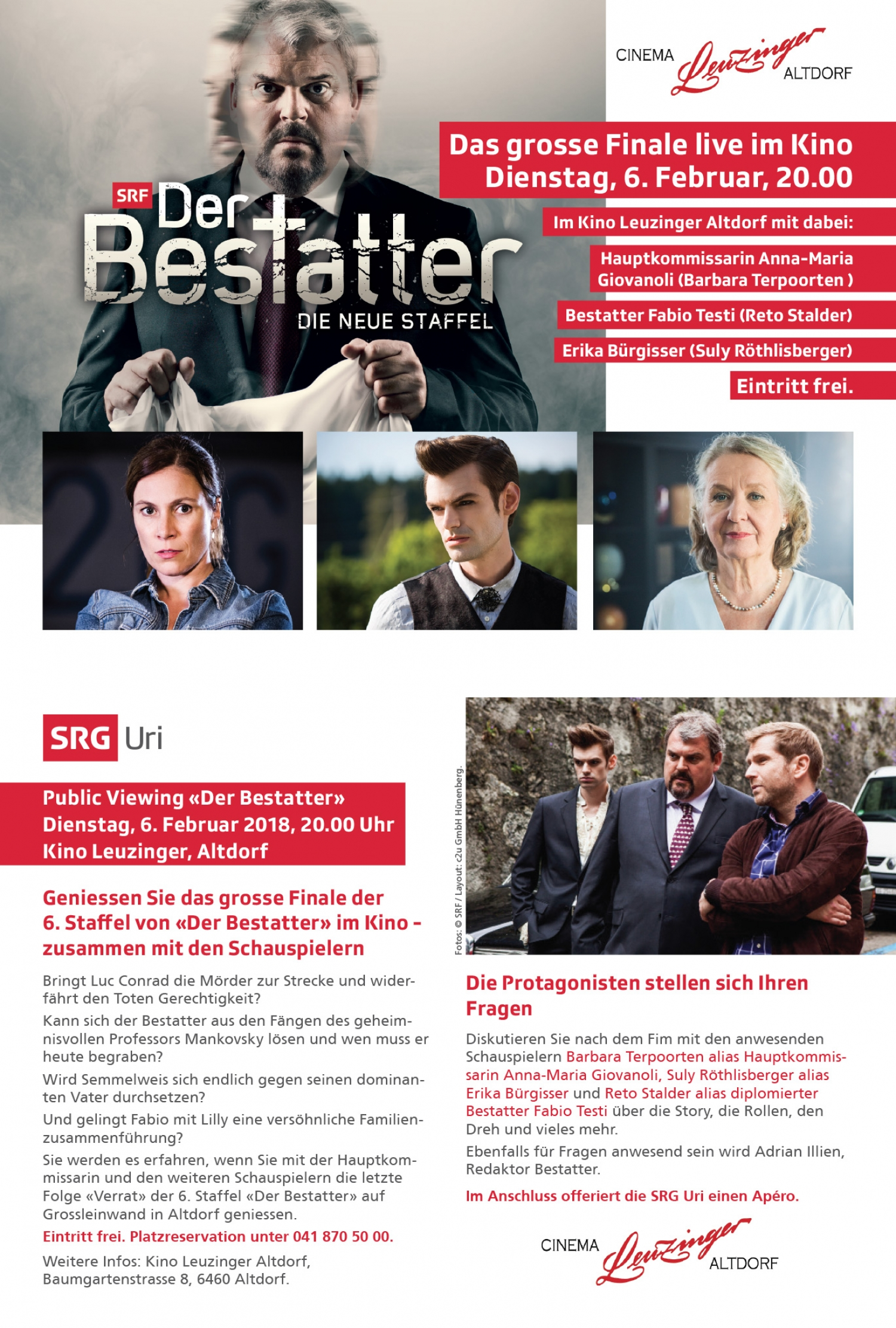 Public Viewing «Der Bestatter»